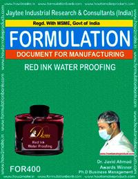Red waterproofing ink