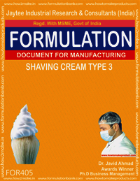 Shaving cream type 3