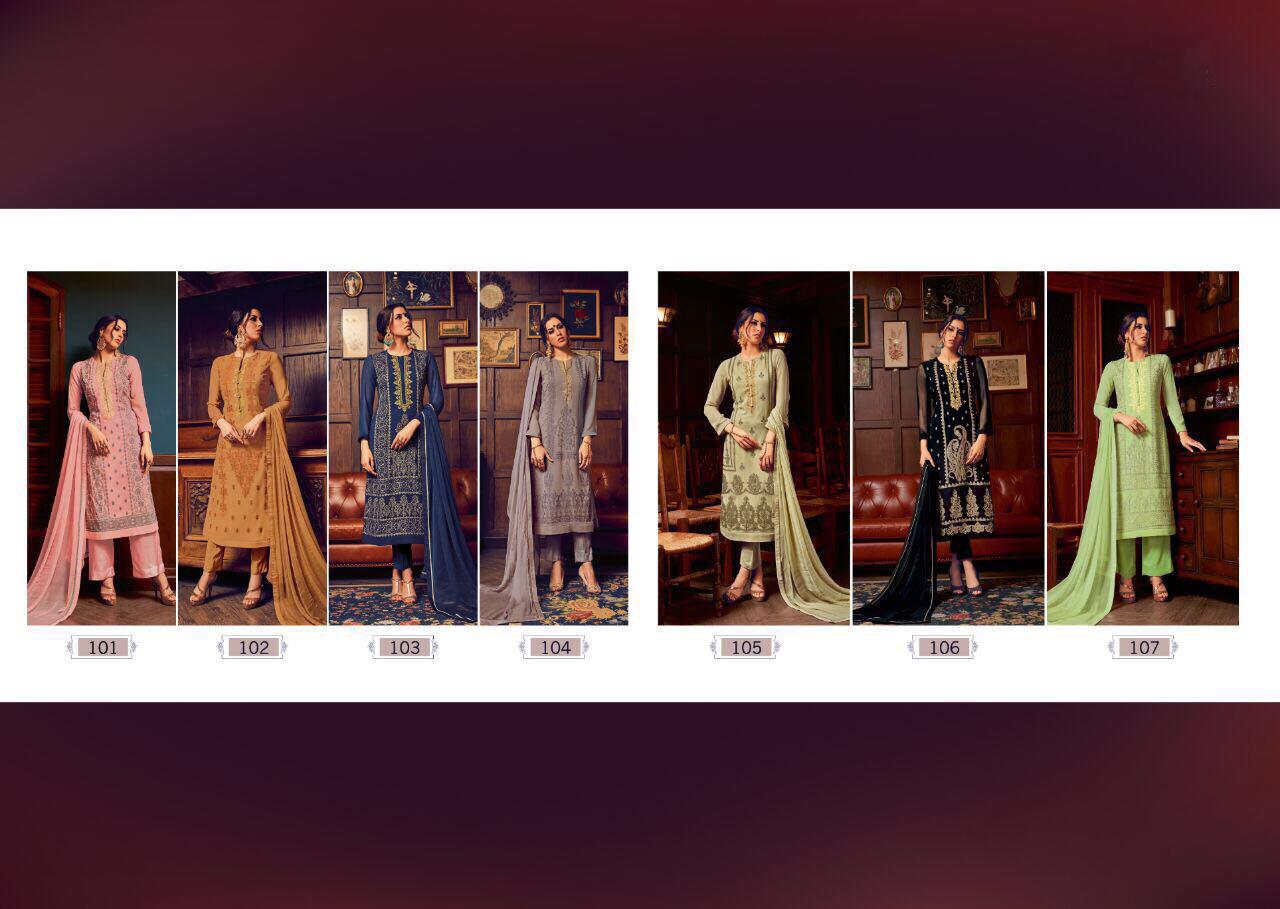 sahiba catalog georgette work suits wholesale