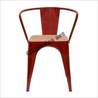 Tolix Arm Chair Flat Top