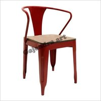 Iron Arm Wood Chair