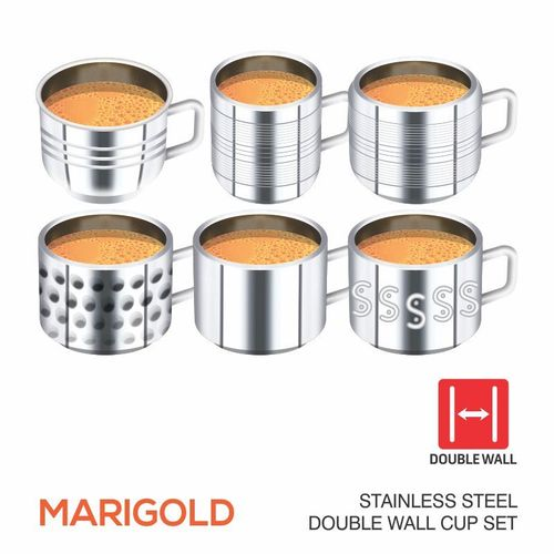 MARIGOLD STAINLESS STEEL CUP SET