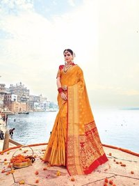 Tradition Touch Designer Silk Saree Online