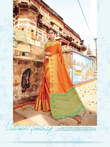 Traditional Work Banarasi Silk Saree