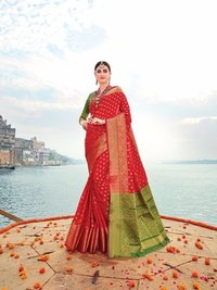Banarasi Silk Weadding Wear Saree