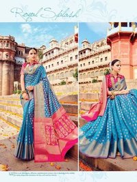 Party Wear Banarasi Silk Saree