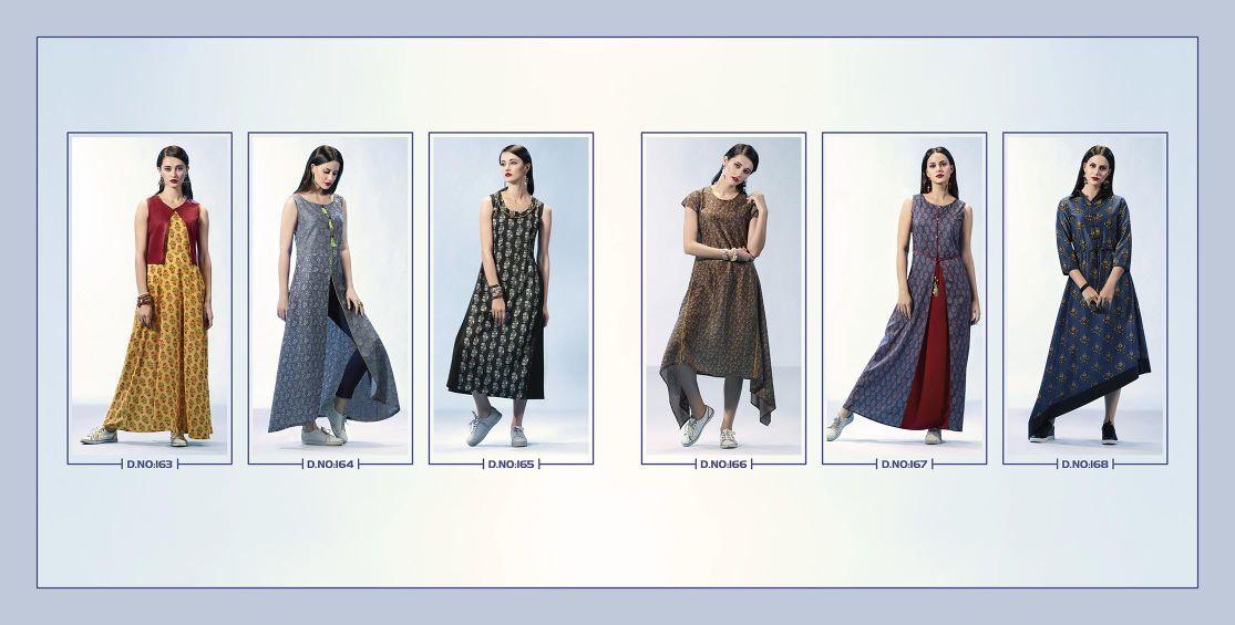 Fine Crepe Digital Printed Kurtis/tunics