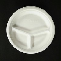 Ecoware 10 Inch 3 Compartment Round Plate