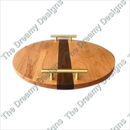 Serving Tray With Brass Handles