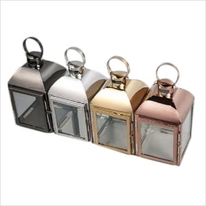 Stainless Steel Glass Candle Lanterns