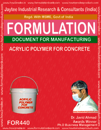 Acrylic polymer for concrete