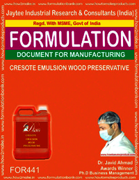 Creosote emulsion wood preservative