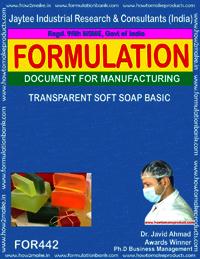 Transparent soft soap
