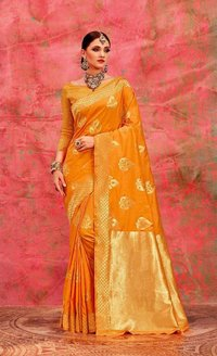Handloom Weaving Art Silk Saree Designer Saree