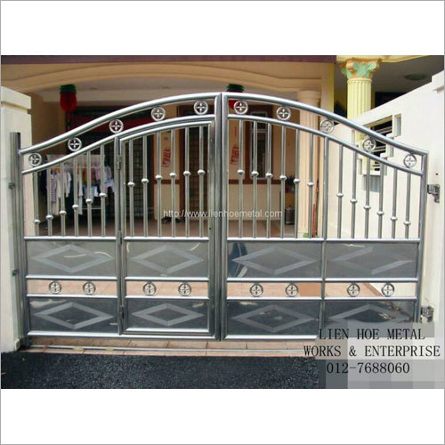 Designer Stainless Steel Main Gate The Great Indian Steel Works
