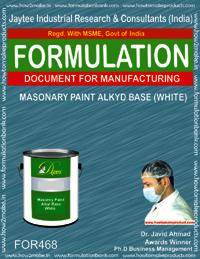 Masonry paint alkyd based white