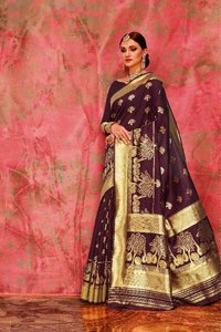 Handloom Weaving Art Silk Saree Designer Saree