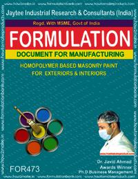 Homopolymer based masonry paint