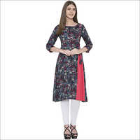 embroidery Rayon  side open kurti