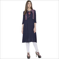 embroidery rayon  with koti staright kurti