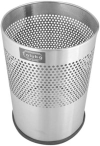 Stainless Steel Peforatted Bin Without Lid Dustbin