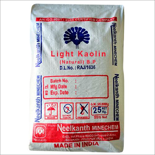 Light kaolin (Natural) BP