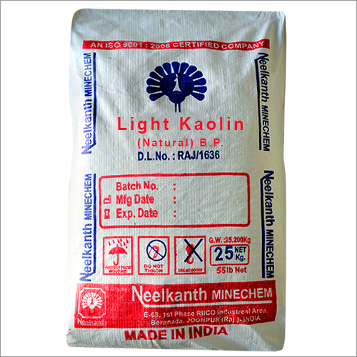 Light kaolin (Natural) BP