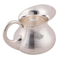 Brass Silver Plated Water Jug Bottom Belly