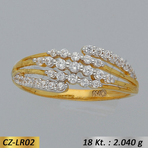 Gold CZ-Ladies Ring