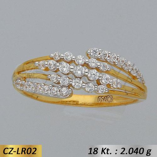 Gold CZ-Ladies Ring