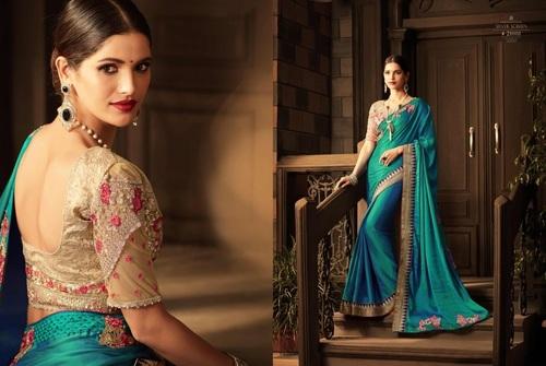 Buy Trendy Designer Silk Sarees