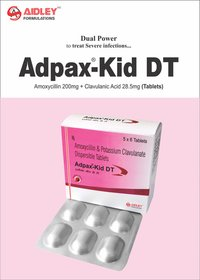 Amoxycillin 250mg + Clavulanic Acid 28.5mg Tablets