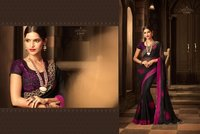 Beautiful Embroidered Pesto Georgette Saree