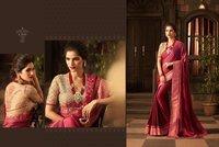 Glamorous Heavy Blouse Designer Saree