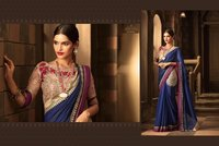 Elegant Work Stylish Chiffon Saree
