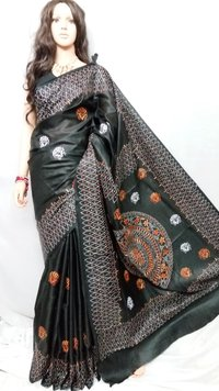 Bhagalpuri Katha Stitch Saree