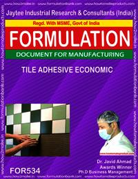 Economic tile adhesive