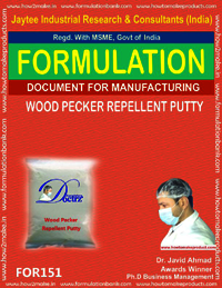 Formulation for making wood pecker repellent putty