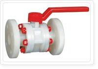 Parthiv PVDF-Ball-Valve-Flange-End