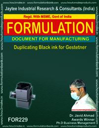 Duplicating Black Ink Gestetner Type Making