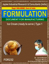 Formula for Ice-cream Ready to Serve Making