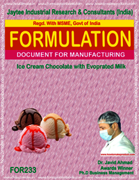 formula for ice-cream chocolate with evaporated milk making
