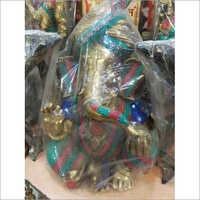 Brass Ganesha Stone Statue