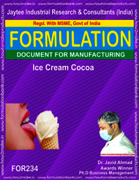 Formula Recipe of Ice-cream Cocoa Making
