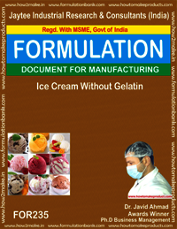 Formula for Ice-cream Without Gelatin Making