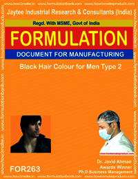 Black hair colour for men type 2 making