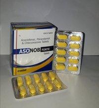 Aceclofenac 100 Mg. + Paracetamol 325 Mg. + Chlorzoxazone 250 Mg. Tablet