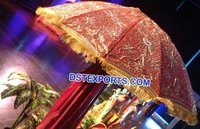 Traditional Red Umbrella Chattar For Wedding
