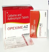 Cefixime 200 mg. + Azithromycin 250 mg. Tablets