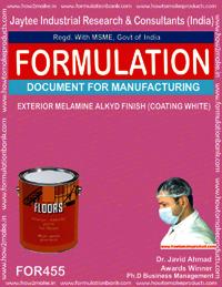 Exterior melamine alkyd finish white coating